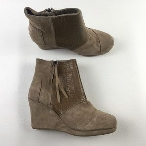 Toms Desert Taupe Wedges F9313818